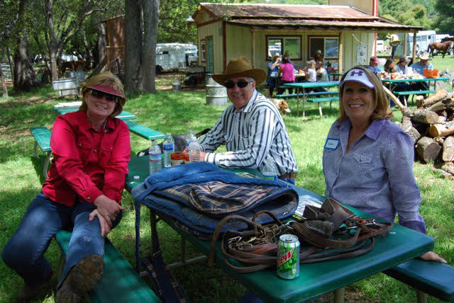 Debbie Inskeep, Tony Gangi and Gwen Canario enjoying the day