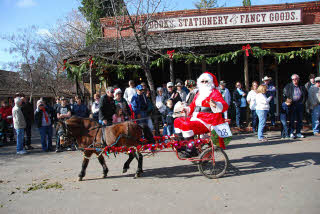 Santa Claus in a horse-drawn cart