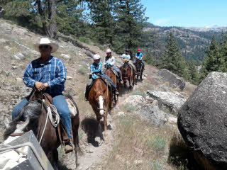 Youths riding in Sierra